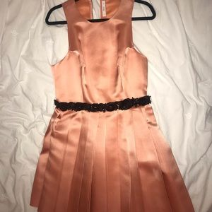 Prada peach colored 100% silk dress